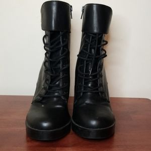 Forever 21 Lace Up Combat Booties